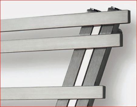 Badkamer Radiator Rvs : Rvs radiator met schuine hoek