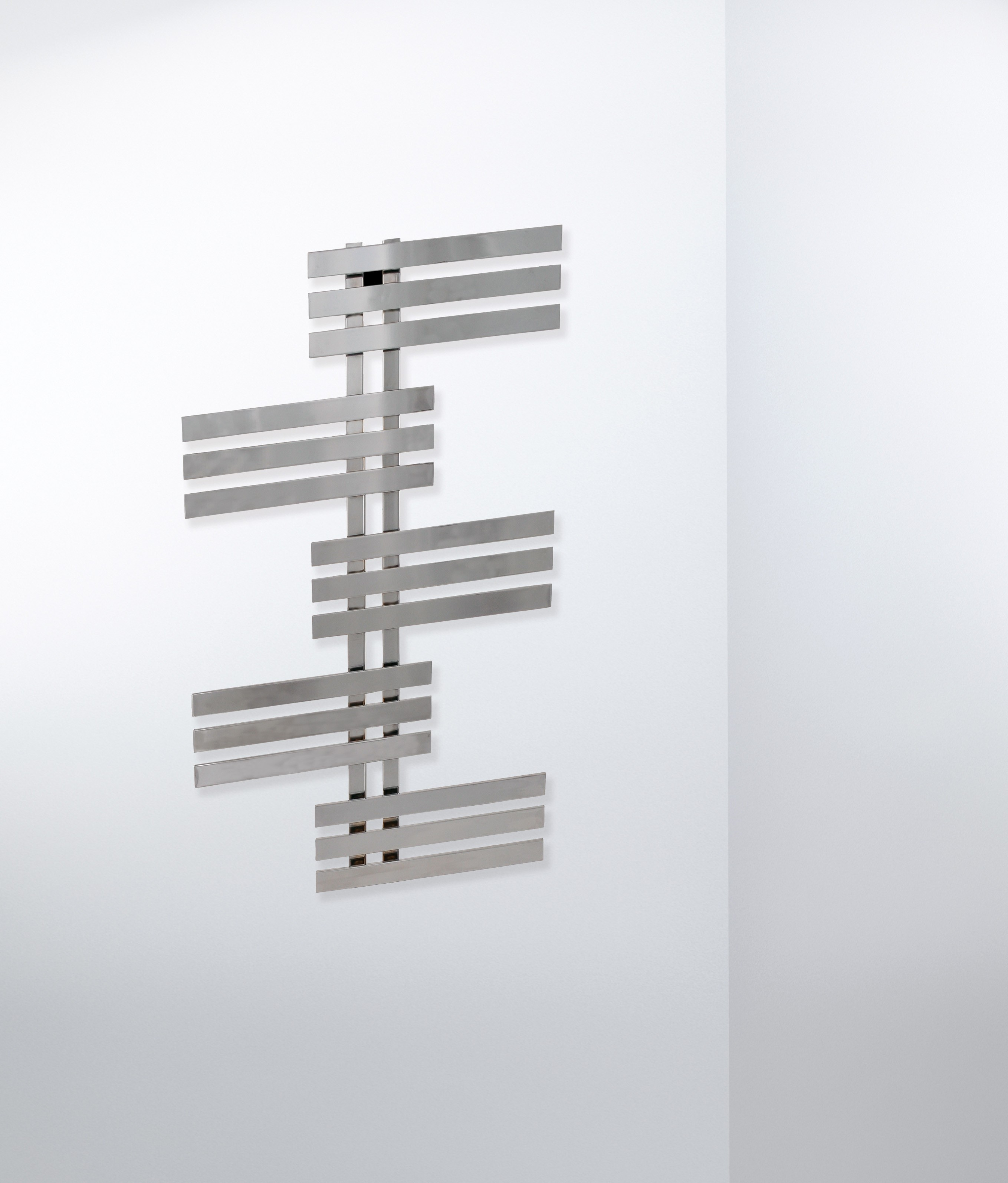 Elfie handdoek design radiator in chroom en wit