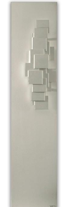 Natuursteen radiator Sculptural met reliëf verticaal