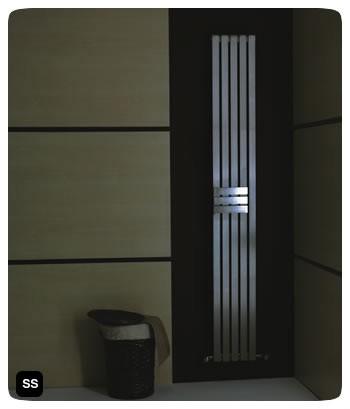 Adonis rvs designradiator voor de badkamer en keuken in roestvrij ...