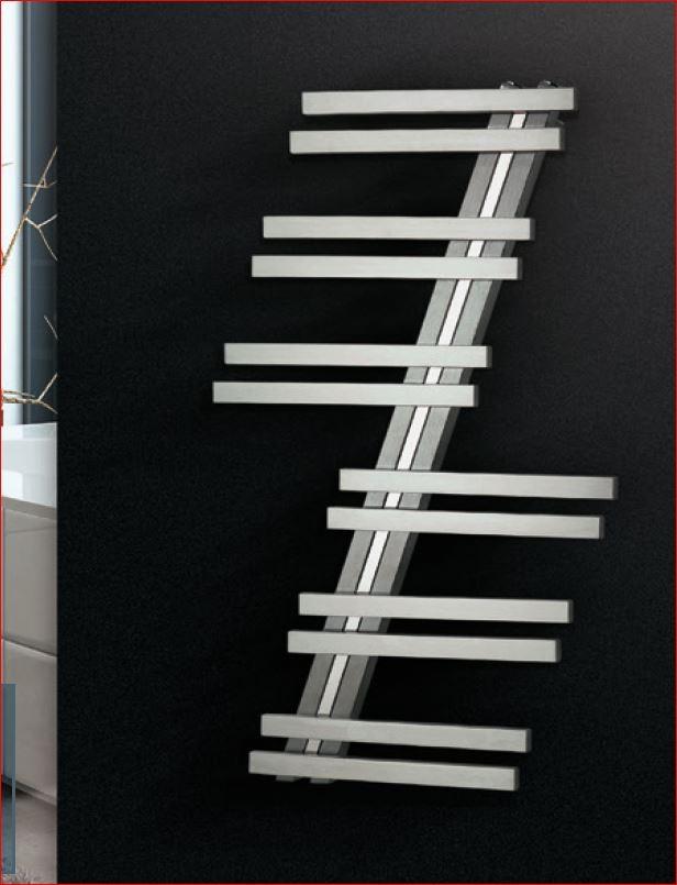 Insignia RVS schuine designradiator