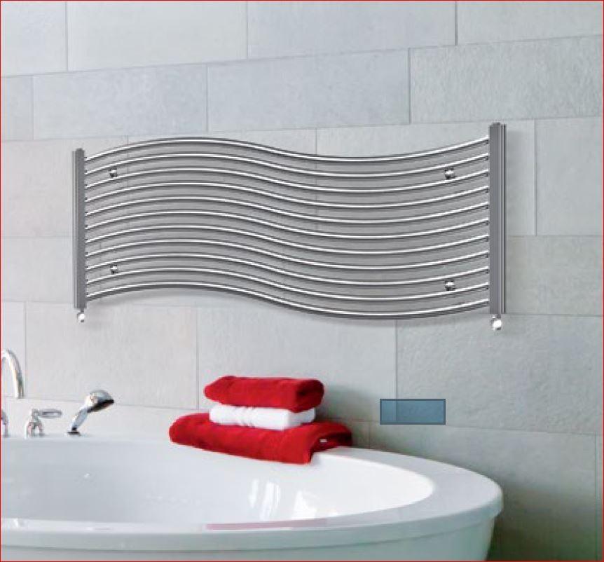 Designradiator Onda in wit en chroom