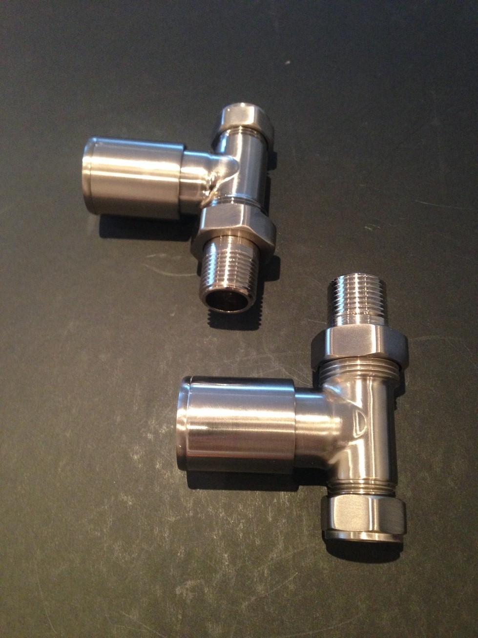 radiatorkraanset aansluitset Prolix recht mat.