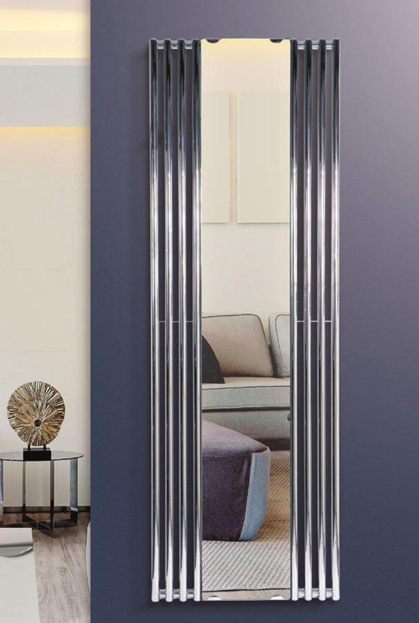 Spiegel designradiator in chroom