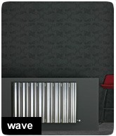 Aluminium designradiator Wave aanbieding