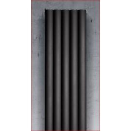 Dama aluminium designradiator met verticale elementen in kokervorm