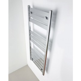Dijon handdoekradiator in wit en chroom