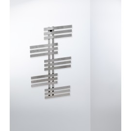Elfie handdoek design radiator in chroom en wit