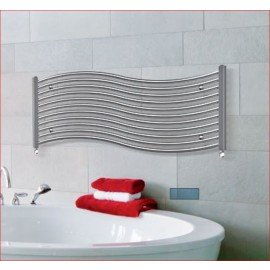 Designradiator Onda in wit en chroom