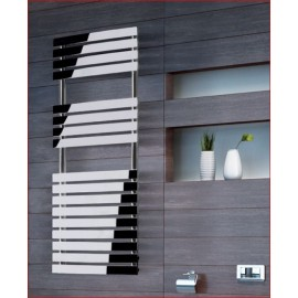 Pukita design handdoekradiator in chroom of wit
